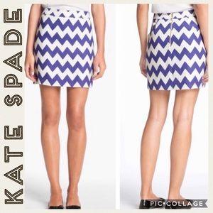 Kate Spade • Robbie • Chevron Skirt • Size 12